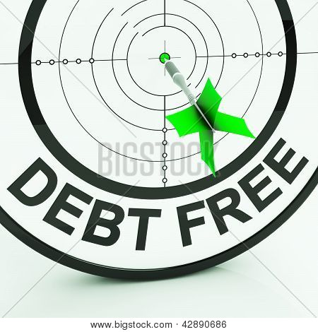 Debt Free Shows Wealth With Zero Loans