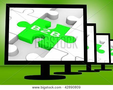 B2B On Monitors Shows Emarketing