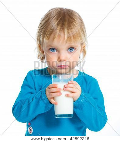 The Girl Drinks Milk