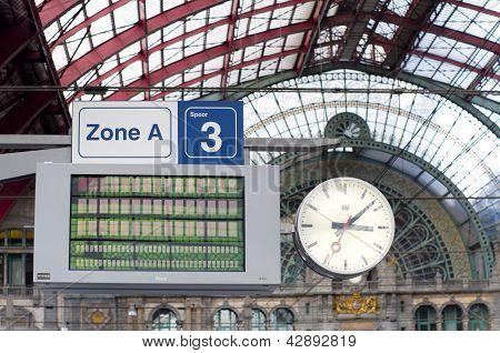 Clock And Notice Board