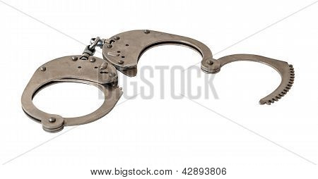 Handcuffs Isolated On White Background