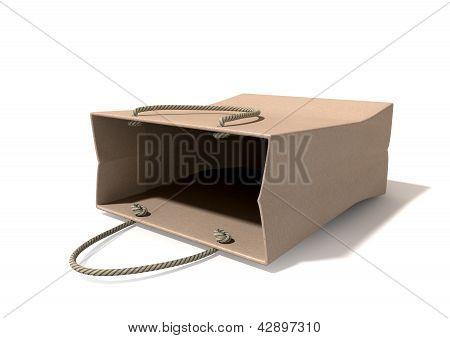 Shopping Bag Paper Laying Down