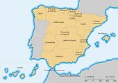 pic of ceuta  - Map of Spain with islands - JPG