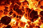 stock photo of ember  - Burning coal - JPG