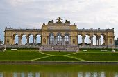 image of schoenbrunn  - view of the Gloriette of the park Schoenbrunn in Vienna - JPG