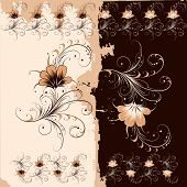 stock photo of dessin  - Floral Ornament Pattern Background  - JPG