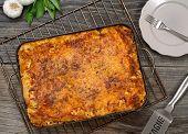 Lasagna In A Metal Pan