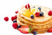 picture of berries  - Pancake - JPG