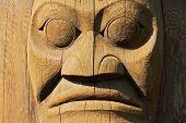 stock photo of totem pole  - Close - JPG