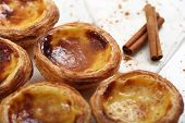 stock photo of pasteis  - traditional portuguese cakes  - JPG