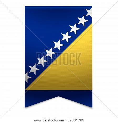 Ribbon Banner - Bosnian Flag