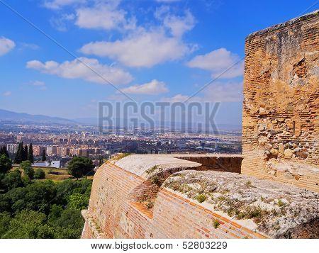 Alcazaba In Granada, Spain