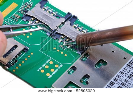 Mobile phone mainboard fix