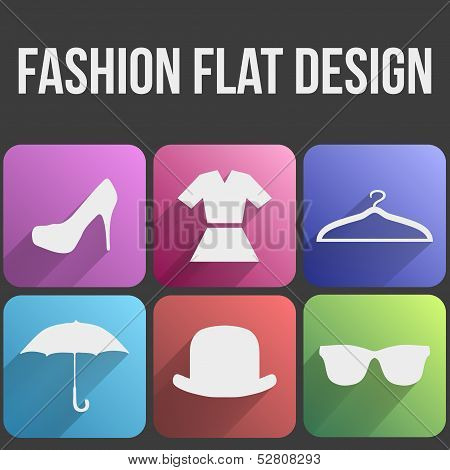Flat icon set fashion for Web and Application.