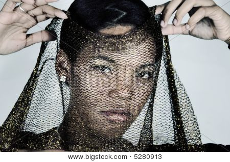 Fashion Woman With Veil