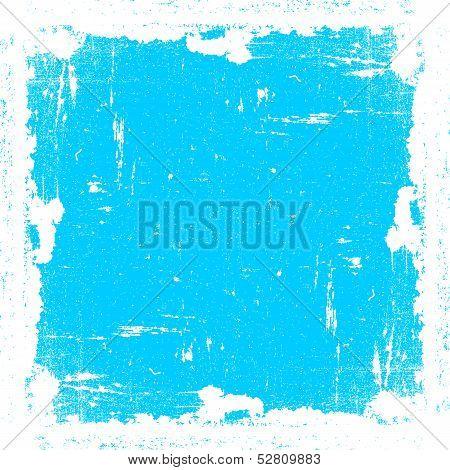 Cyan Textured Frame