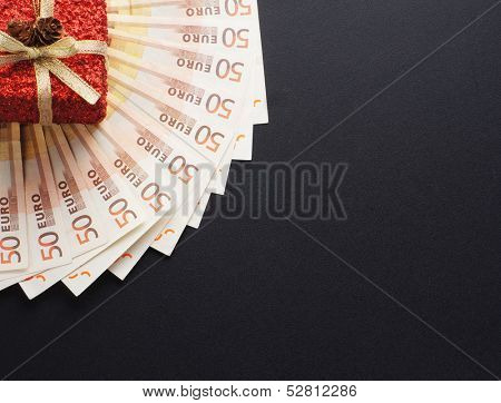 Money in Christmas concept