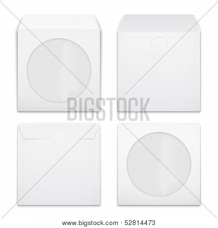Blank compact disc envelopes.