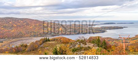Panorama Of  Coastal Scene On The Cabot Trail