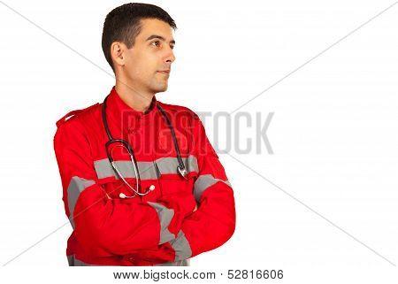 Paramedic Man Looking To Future