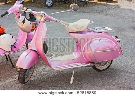 Vintage Pink Vespa
