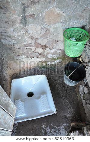 Strange toilette
