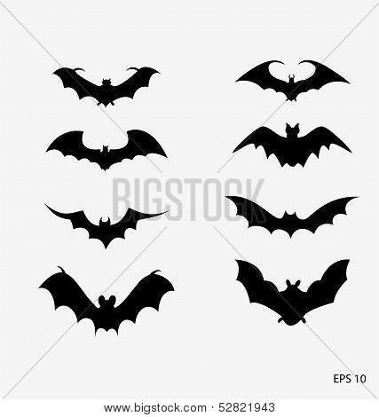 bat icons - Illustration