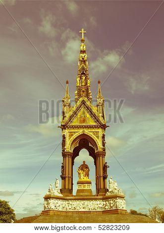 Retro Looking Albert Memorial, London