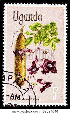 Post Stamp From Uganda