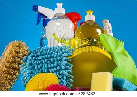 Colorful cleaning theme