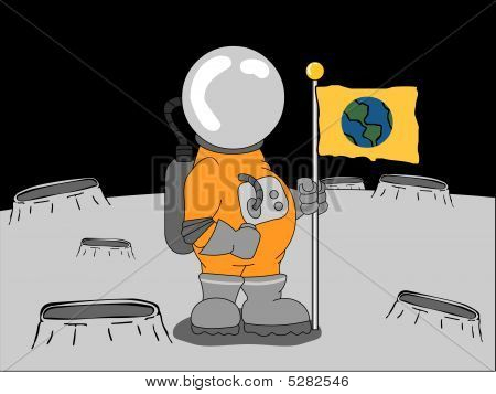 Astronaut On The Moon