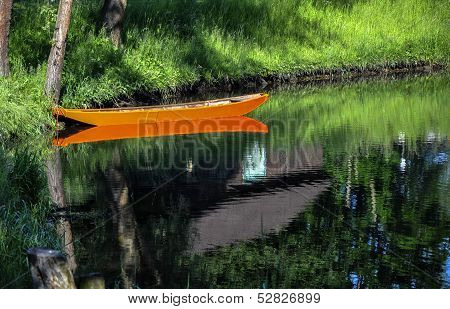 Boat On A Small River (Germany)