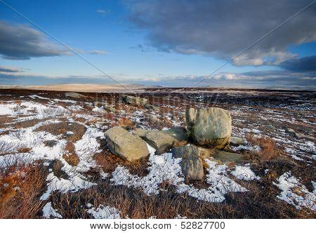 winter moorland scene