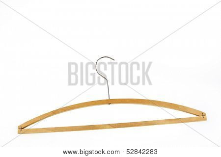 Coat hanger isolated on plain background