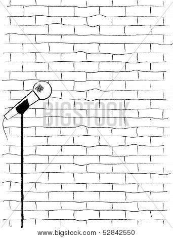 Karaoke Poster Sketch.