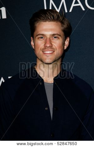 NEW YORK- OCT 24: Actor Aaron Tveit attends the global premiere of Canon's