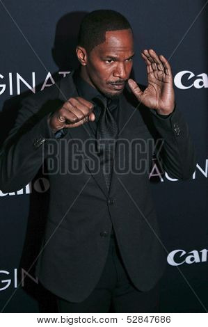 NEW YORK- OCT 24: Actor Jamie Foxx attends the global premiere of Canon's
