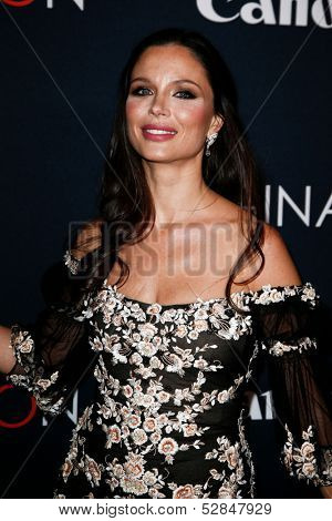 NEW YORK- OCT 24: Designer Georgina Chapman attends the global premiere of Canon's