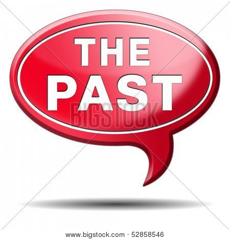the past sign icon or button leading back into history