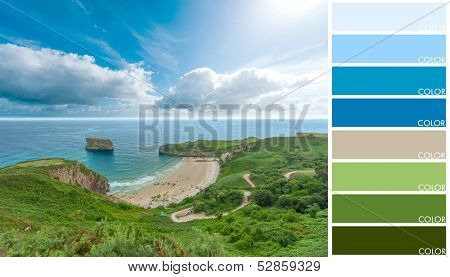 Beautiful cove, with a color palette