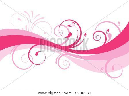 Abstract Floral Background Design