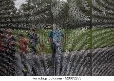Names Of Vietnam War Casualties On Vietnam War Veterans Memorial