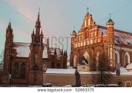 St. Anne's and Bernardine's Churches in Vilnius, Lithuania