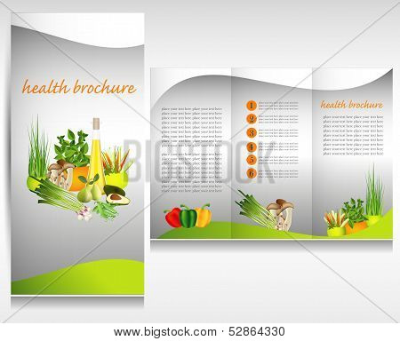 Health food brochure concept.
