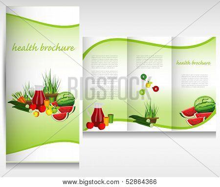 Health food brochure concept.