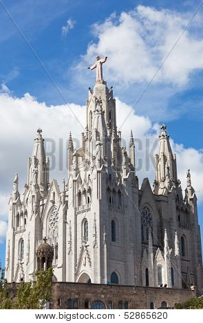 Temple del Sagrat Cor (Church of the Sacred Heart). Barcelona. Spain