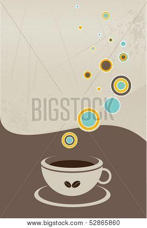 Coffee menu flyer. Vector illustration.