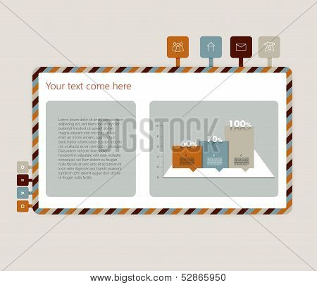 Example web site. Simply vector design template.