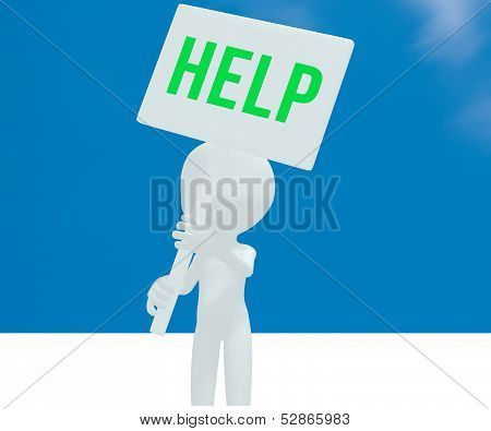 Help on the sign little man