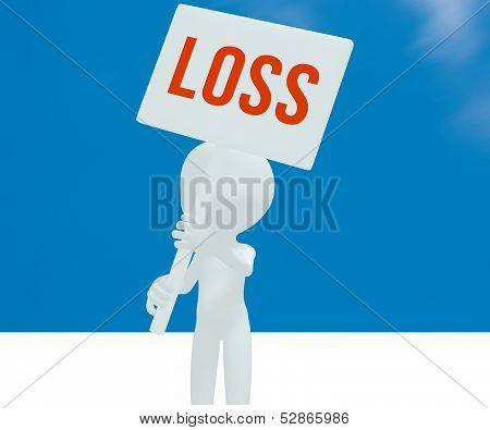 Loss on the sign little man